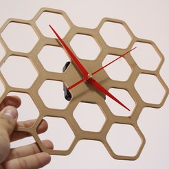 IMG_0227.JPG Télécharger fichier STL Horloge à nid d'abeille • Design à imprimer en 3D, YEHIA