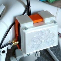 R3DPPPKRTK.jpg Download STL file  PPK / RTK Suport Kit Dji Phantom 4 Pro • 3D printable model, R3DP