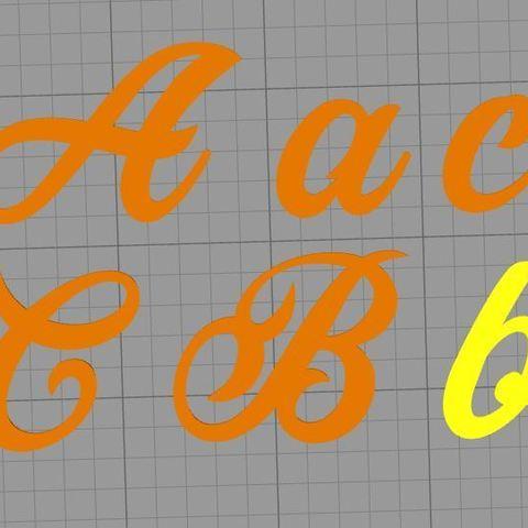 Descargar diseños 3D Cartas de fuentes de Painter, muratsayrim