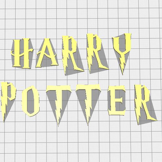 Download 3D printer files Harry Potter Font Letter Stamp, muratsayrim