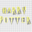 Imprimir en 3D Sello de letra Harry Potter, muratsayrim
