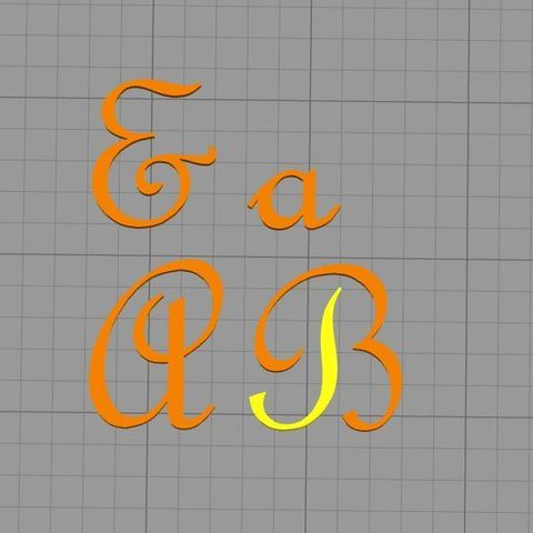 Download 3D printing files  letter stamp Frenc Script MT font, muratsayrim