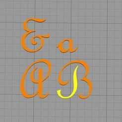 Download 3D printing files  letter stamp Frenc Script MT font, muratsayrim