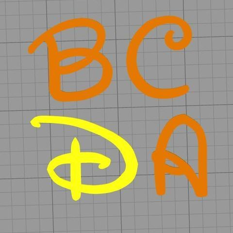 Download 3D printing templates DISNEY FONT LETTERS, muratsayrim