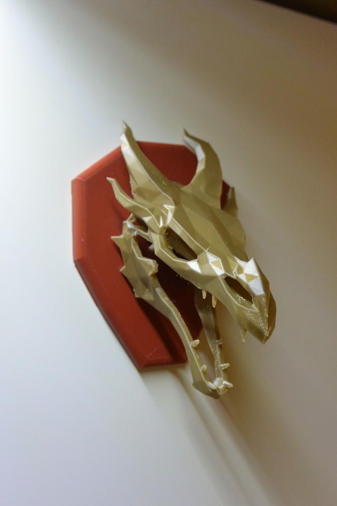 fb5eec9f2844f2ec52dbcdf796e62749_display_large.JPG Download free STL file Skyrim skull Dragon wall Trophy • 3D printable model, raffosan