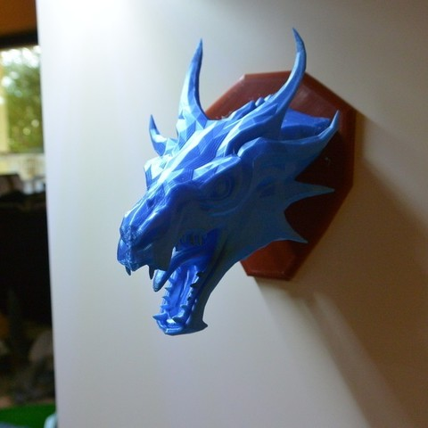 ab28d73c95c84ee33dd0e330bcabcec9_display_large.JPG Download free STL file Skyrim Swamp Dragon wall Trophy • 3D printable design, raffosan