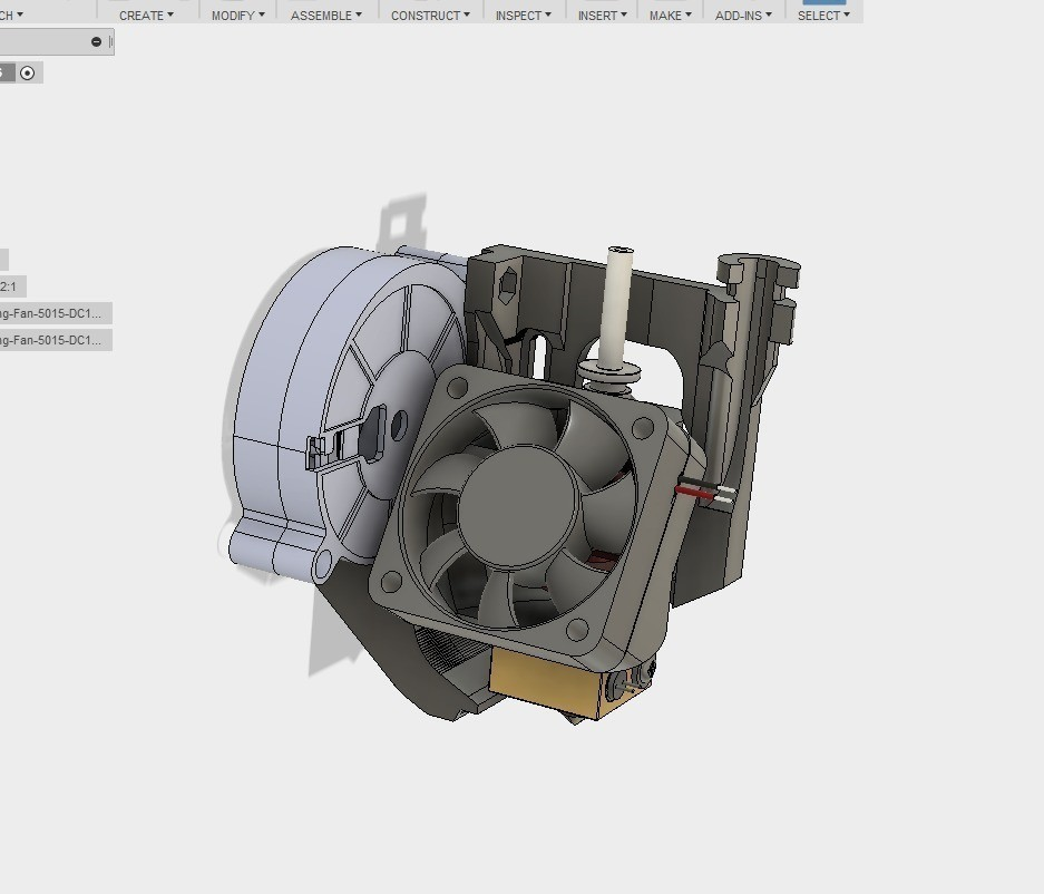 a5e5326e18d8e357805807a830fd2faa_display_large.jpg Download free STL file ULTIMATE creality cr10 ender 2-3 single blower LEFT RIGHT fan mount (stock hotend) EZABL • 3D print object, raffosan