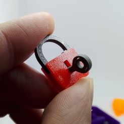 Download free 3D printing designs minimal mini lock with working mechanism and key, raffosan