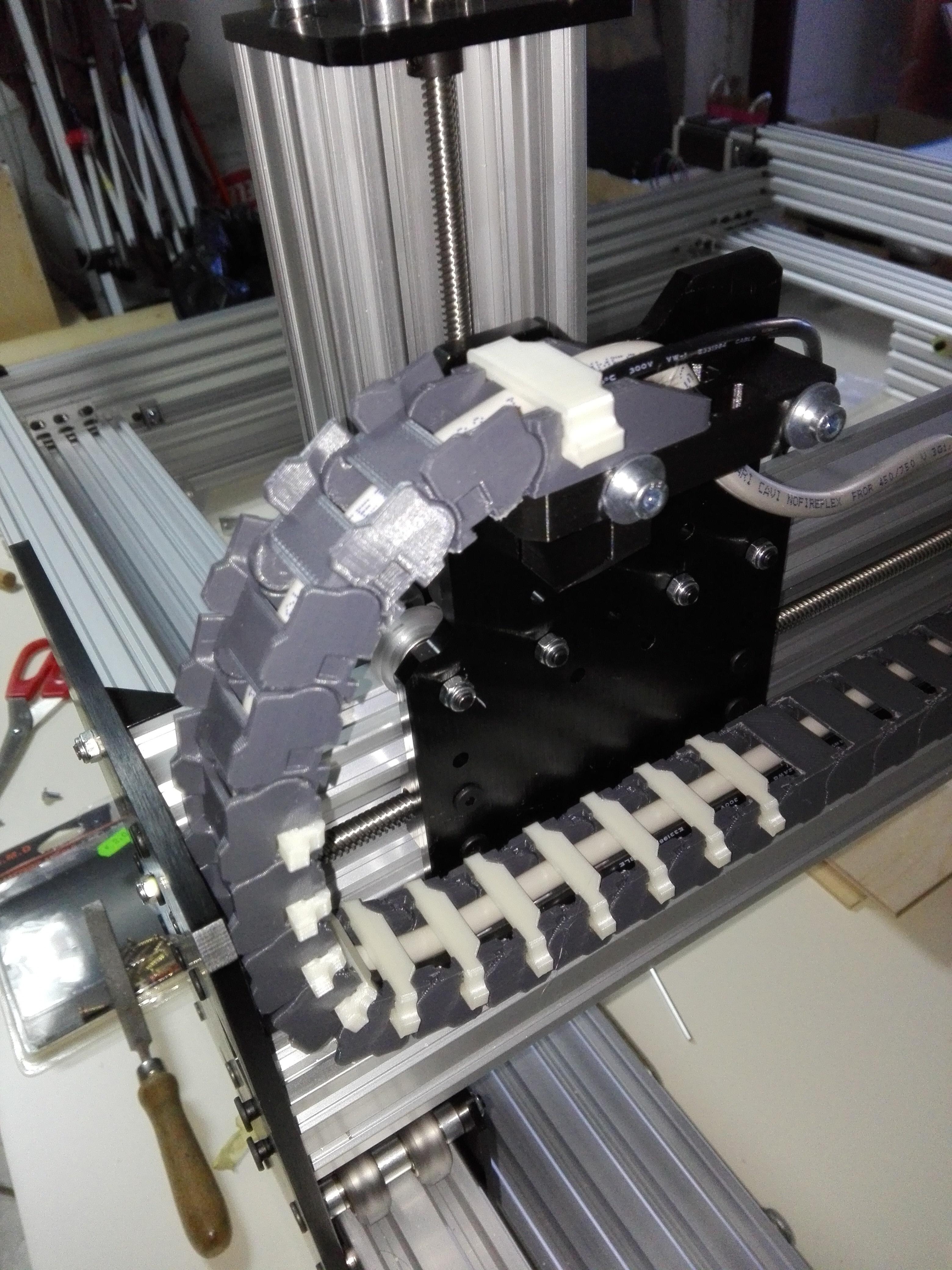 2020-01-06_13.06.19.jpg Télécharger fichier STL gratuit Chaîne d'entraînement 11x20 pour profilé à rainure de 20mm, axe X de l'abeille • Modèle pour imprimante 3D, raffosan