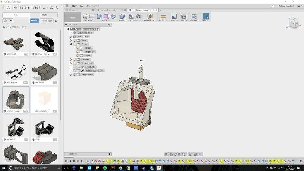 edff1aaac17c60dab911f2387775143d_display_large.jpg Télécharger fichier STL gratuit creality CR-10 ender 2 3 3 40mm Stock Hot End Conduit de refroidissement facile à installer. • Objet à imprimer en 3D, raffosan