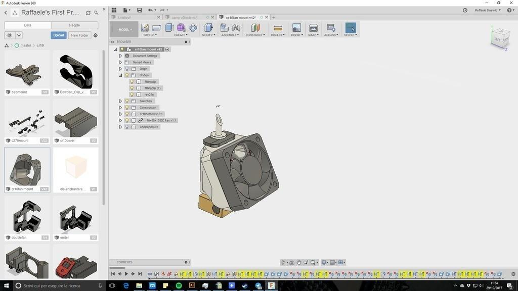 74bfb0ab225562f8533e56deb7b704d3_display_large.jpg Télécharger fichier STL gratuit creality CR-10 ender 2 3 3 40mm Stock Hot End Conduit de refroidissement facile à installer. • Objet à imprimer en 3D, raffosan
