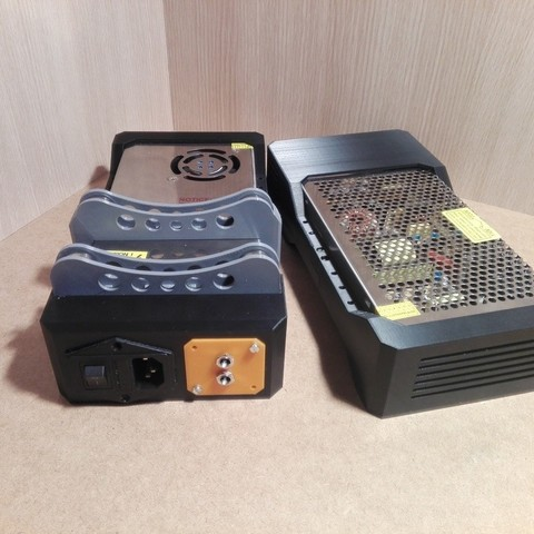 Télécharger objet 3D gratuit Couvercle modulaire pour bloc d'alimentation, avec addons, xt60 xt60 , dc 12v , iec, tush, framboise , ender2, raffosan