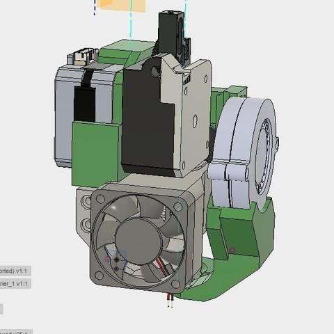 Download free STL file CR10 direct heavy duty mod, titan + v5heatsink+volcano/ or / v6heatsink + pancake motor BETA, raffosan