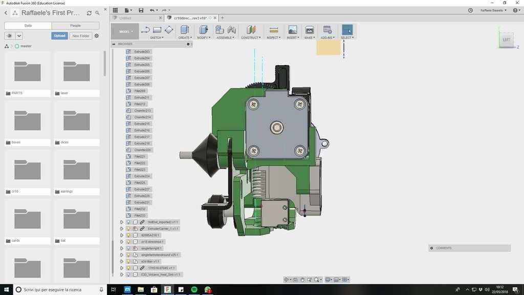3fa7144383e29e1a03851fd89ee265db_display_large.jpg Download free STL file CR10 direct heavy duty mod, titan + v5heatsink+volcano/ or / v6heatsink + pancake motor BETA • 3D print object, raffosan