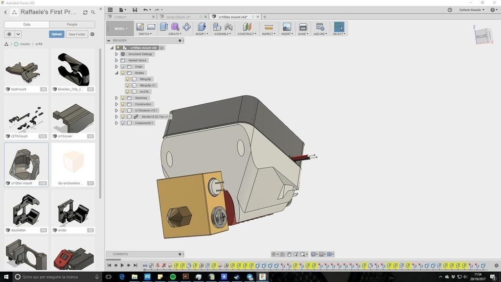 02f991be6f29303c6eb04710dfa067ec_display_large.jpg Télécharger fichier STL gratuit creality CR-10 ender 2 3 3 40mm Stock Hot End Conduit de refroidissement facile à installer. • Objet à imprimer en 3D, raffosan