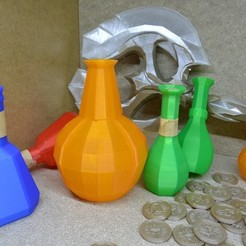 Download free 3D printer model Skyrim fortify and poison potion // props replica, raffosan
