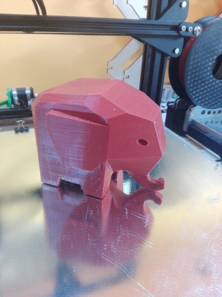 7829428f26d2049fd2173d4161092d45_display_large.jpg Télécharger fichier STL gratuit éléphant LOWPOLY • Design pour imprimante 3D, raffosan