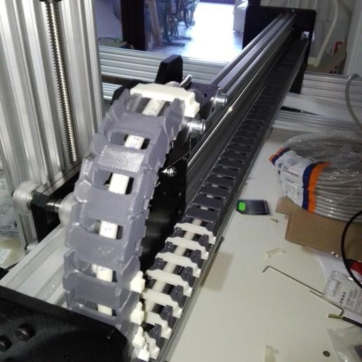 2020-01-06_13.06.25.jpg Télécharger fichier STL gratuit Chaîne d'entraînement 11x20 pour profilé à rainure de 20mm, axe X de l'abeille • Modèle pour imprimante 3D, raffosan