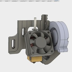 Free STL files ULTIMATE creality cr10 ender 2-3 single blower LEFT RIGHT fan mount (stock hotend) EZABL, raffosan