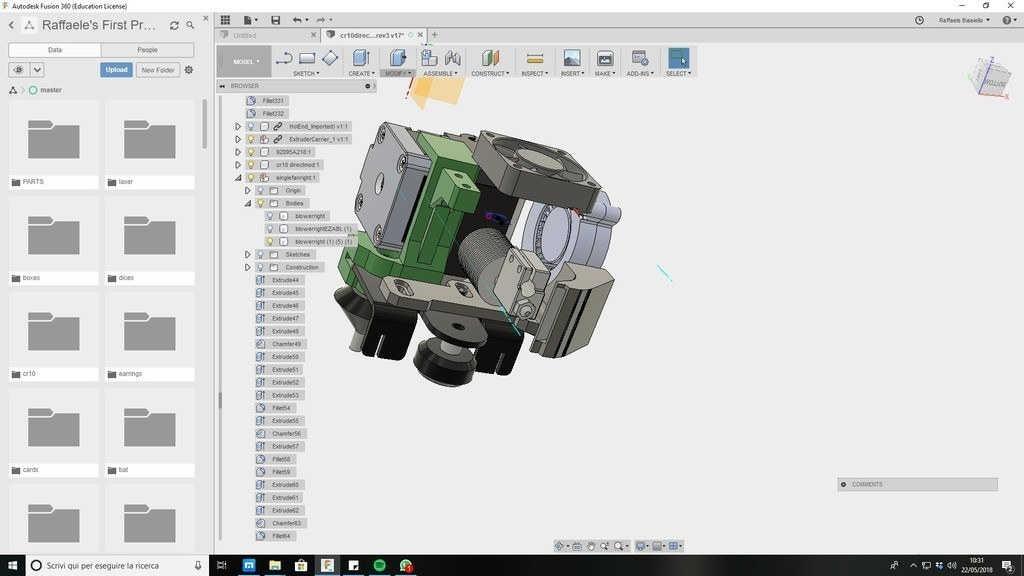 9cae9731768a2426e6e4e93c96b86457_display_large.jpg Download free STL file CR10 direct heavy duty mod, titan + v5heatsink+volcano/ or / v6heatsink + pancake motor BETA • 3D print object, raffosan