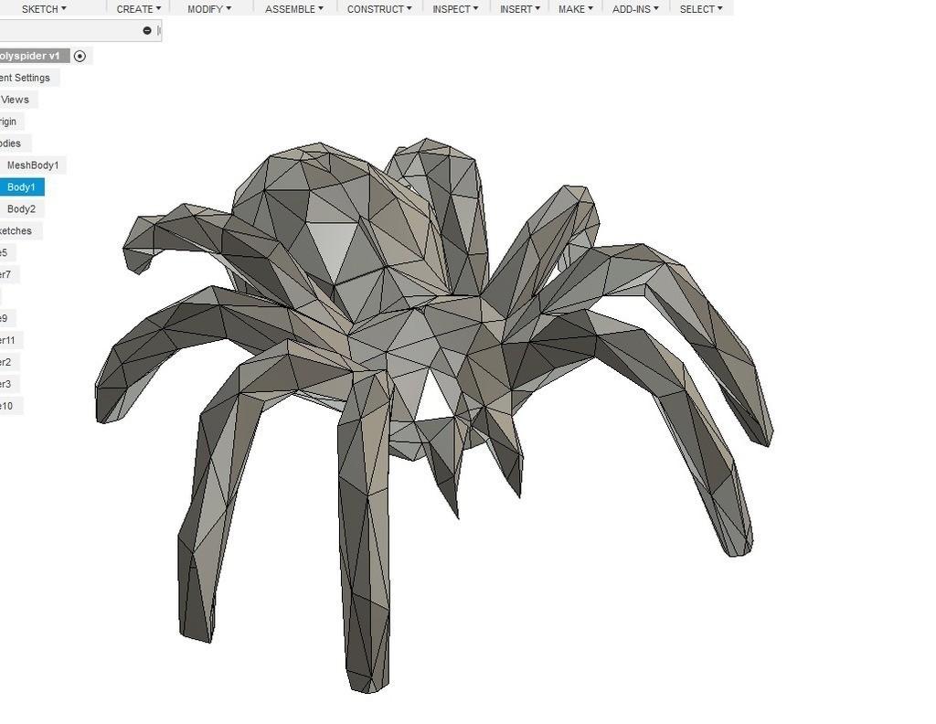 07c9a45b4d158f7604e585129592adc8_display_large.jpg Download free STL file LOWPOLY spider • 3D print design, raffosan