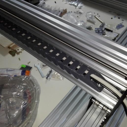 2020-01-06_13.04.31.jpg Télécharger fichier STL gratuit Chaîne d'entraînement 11x20 pour profilé à rainure de 20mm, axe X de l'abeille • Modèle pour imprimante 3D, raffosan