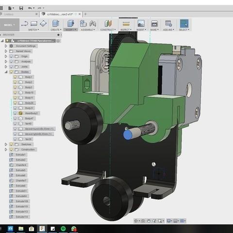 a976f3c2cd873d43c8ee859efa4d88e0_display_large.jpg Download free STL file CR10 direct heavy duty mod, titan + v5heatsink+volcano/ or / v6heatsink + pancake motor BETA • 3D print object, raffosan