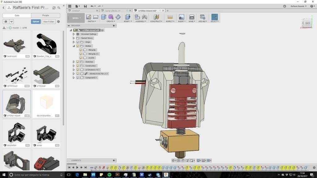 1938bcbc545b500991abd14249c75cc9_display_large.jpg Télécharger fichier STL gratuit creality CR-10 ender 2 3 3 40mm Stock Hot End Conduit de refroidissement facile à installer. • Objet à imprimer en 3D, raffosan