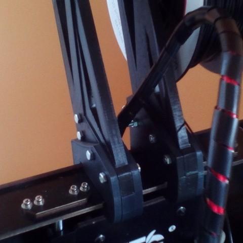 6a1193ad3344d8de9674640afed61679_display_large.jpg Télécharger fichier STL gratuit Porte-bobine double-quad pour les modèles à coque CTC/flashforge/réplicateur WOOD. • Plan pour imprimante 3D, raffosan