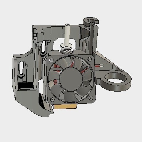 adc1986ac0f8d1a44086f473ac259042_display_large.jpg Download free STL file ULTIMATE creality cr10 ender 2-3 single blower LEFT RIGHT fan mount (stock hotend) EZABL • 3D print object, raffosan