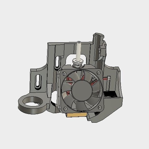 3f53348ebca0da938c98c6d0555fb7ca_display_large.jpg Download free STL file ULTIMATE creality cr10 ender 2-3 single blower LEFT RIGHT fan mount (stock hotend) EZABL • 3D print object, raffosan