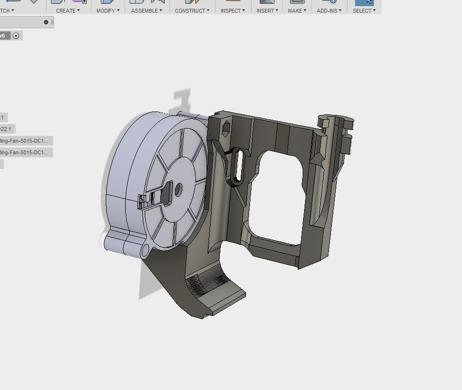 9eb76db66ad384ccf1deac3579b25e94_display_large.jpg Download free STL file ULTIMATE creality cr10 ender 2-3 single blower LEFT RIGHT fan mount (stock hotend) EZABL • 3D print object, raffosan