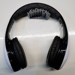 Download free 3D printing templates Headphone Wall Holder #3, MPoenya