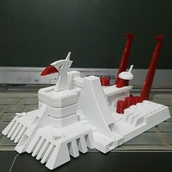IMG_20201227_070719_061.jpg Download STL file Voltes V Basecamp Big Falcon Dual Color • 3D printer model, MPoenya