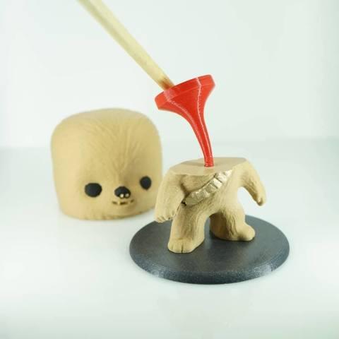 39750244_315024682408897_554912622206517248_n.jpg Download free STL file Chewbacca BobbleHead TPU spring • 3D printing object, zaky20