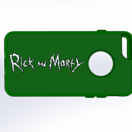 Download free STL file Rick And Morty Case Iphone 7, Empeurare