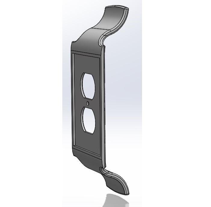 Outlet_Back.JPG Download STL file Outlet Cover Wrap • 3D printing model, Candman91