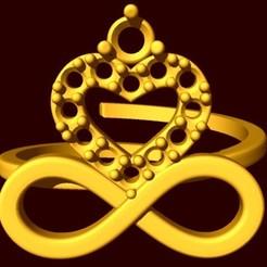 Descargar modelo 3D anillo corazon con piedra, fcosaldana0210