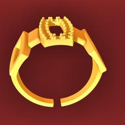 Descargar modelos 3D para imprimir anillo monarcal, fcosaldana0210