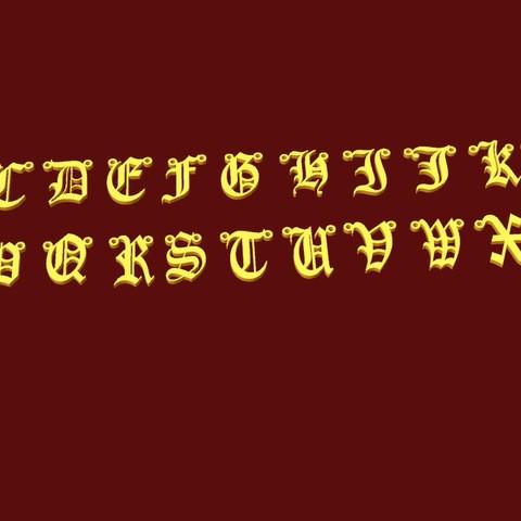 abc gothica.jpg Download STL file gothic alphabet • 3D printable model, fcosaldana0210