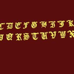 Download STL Gothic alphabet, fcosaldana0210