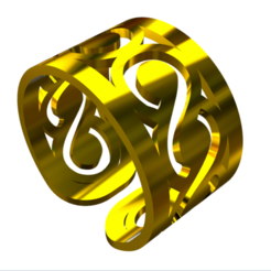 muestra anillo 6.png Download STL file 6 rings in dxf and eps • 3D printable template, fcosaldana0210