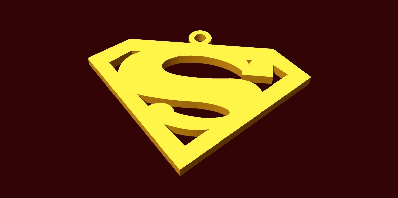 superman.jpg Download free STL file superman pendant • 3D printable template, fcosaldana0210