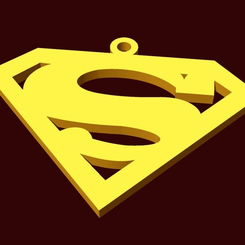 Download free STL superman pendant, fcosaldana0210