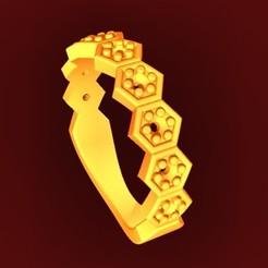 Descargar STL anillo tipo gloria, fcosaldana0210