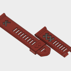 Download free 3D printer model Garmin Fenix3 wristband - Latvian symbols, Fricis