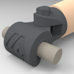 Download free 3D printer designs Prosthetic hand terminal device - for cycling, Fricis