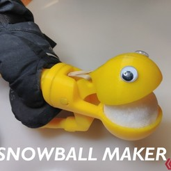 Download free 3D printer templates Snowball making device, Fricis