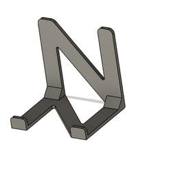 Soporte movil.jpg Download free STL file mobile phone holder • 3D printing template, sergio_mg