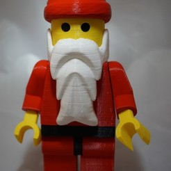 Download free STL Giant Lego Santa, retrorocketuk